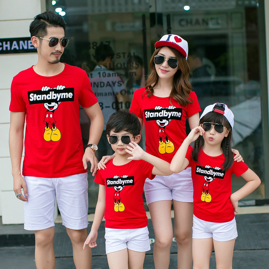 Short Sleeve Dad-Mom-Baby T-shirts