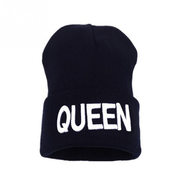 Warm King Queen Stocking Knitted Hip-Hop Hat
