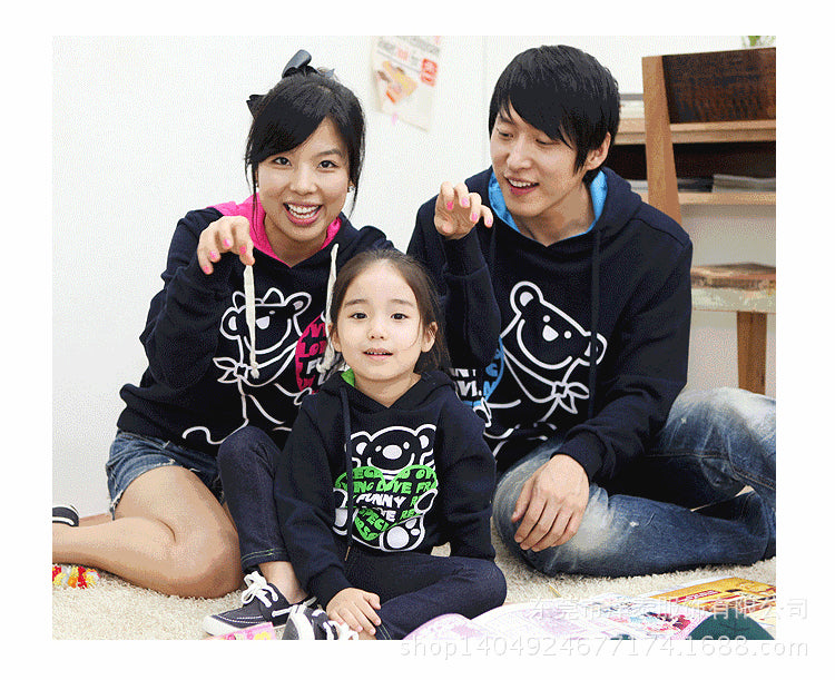 Long Sleeve Hooded Sweatshirts Family Matching