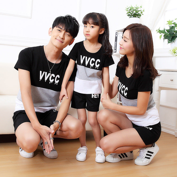 Short Sleeve T-Shirts father Mother baby Clothes