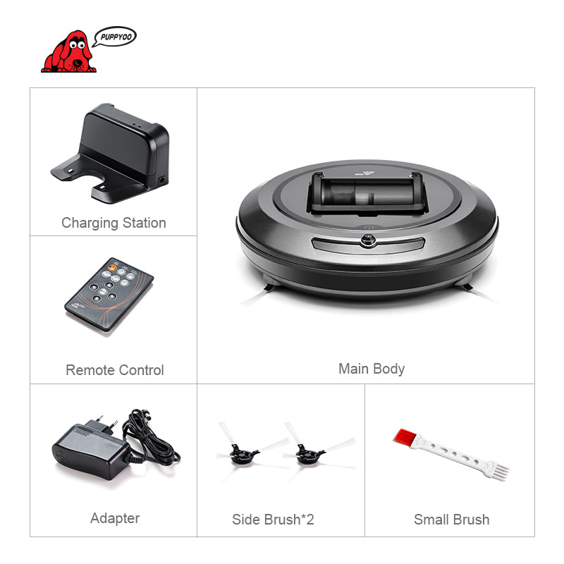 Intelligent Multifunctional Collector Self-Charge and High Suction Power Side Brushes Robotic Vacuum Cleaner
