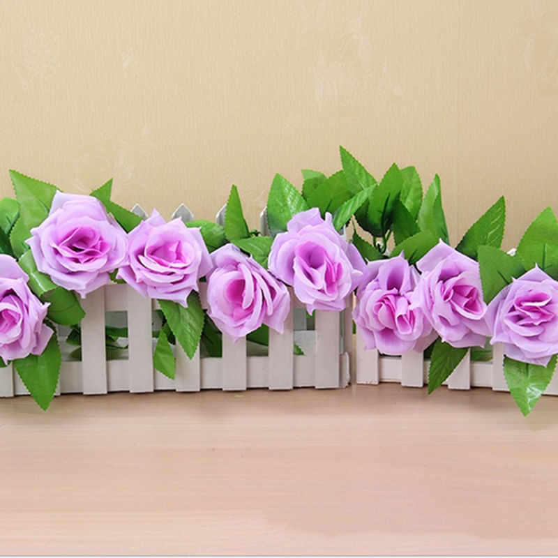 Artificial Flowers with Green Leaves For Home Wedding Decoration