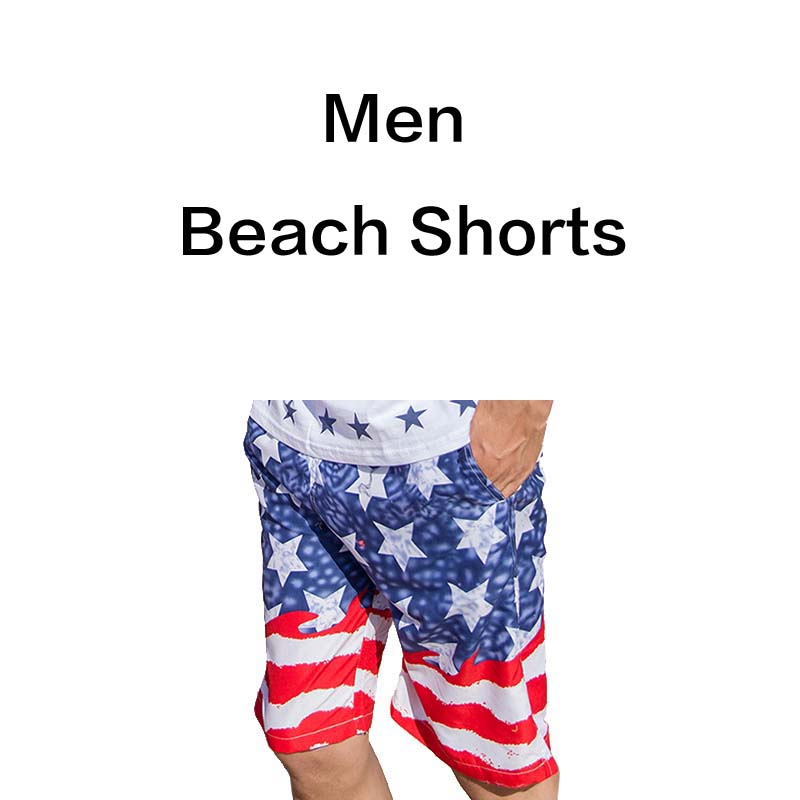 Quick Dry Striped Print Matches Beach Boardshort