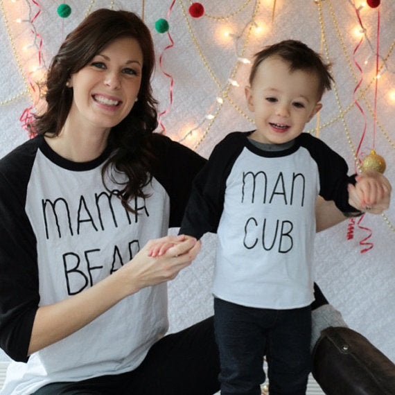 Casual Full Sleeve Family Matching Outfits Letter Print T-Shirt