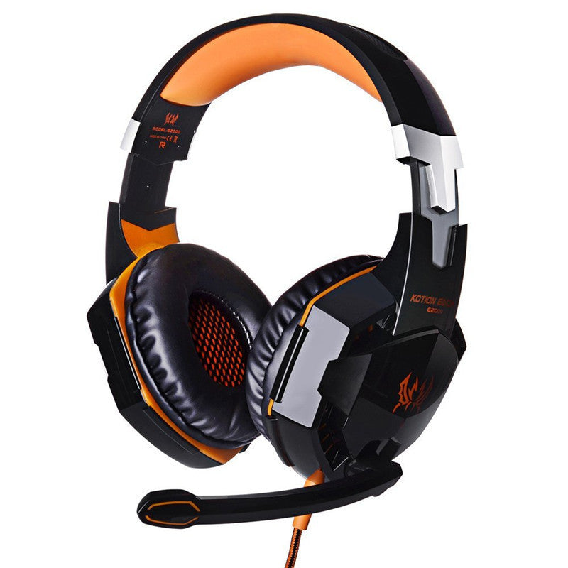 Anti-noise Dazzle Lights Stereo Gaming Headset For PC Gamer with MIC