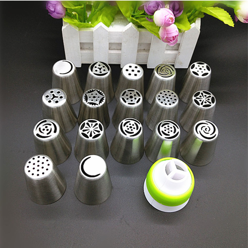 Russian Tulip Stainless Steel Nozzle Set, 17Pcs