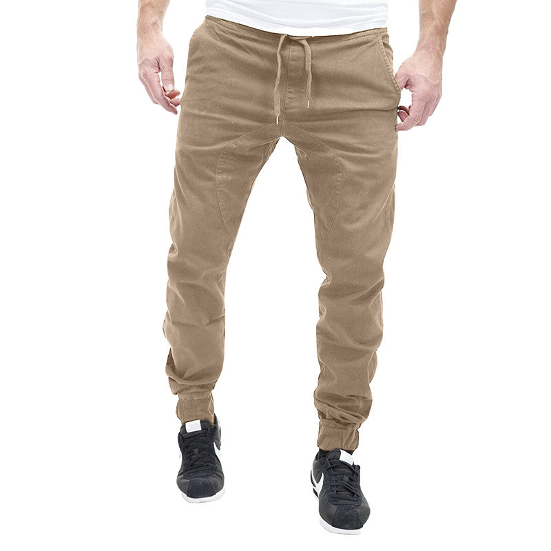 Elastic Waist Slim Fit Hip Hop Cotton Harem Long Sweatpant