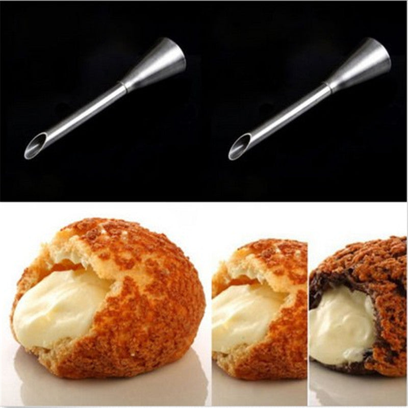 2 Sizes Cup Cake Cream Puff Icing Piping Nozzle