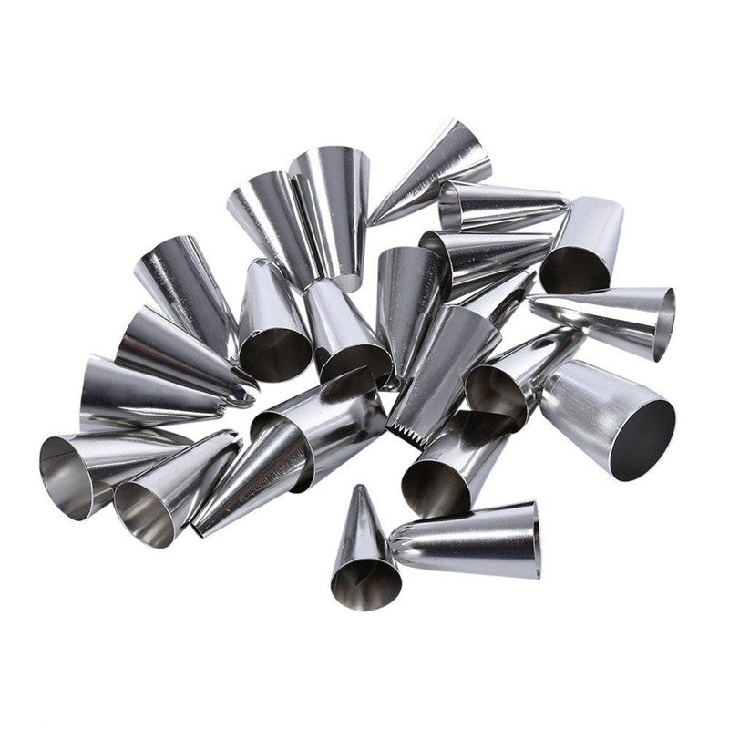 24Pcs/Set Stainless Steel Baking Tools Flower Cake Icing Piping Nozzles Pastry