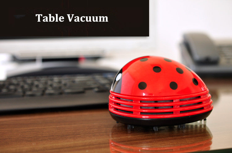 Mini Ladybug Desktop Coffee Table Vacuum Cleaner & Dust Collector for Home & Office