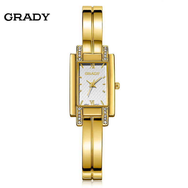 18K Gold-Plated Waterproof Brand Wristwatches
