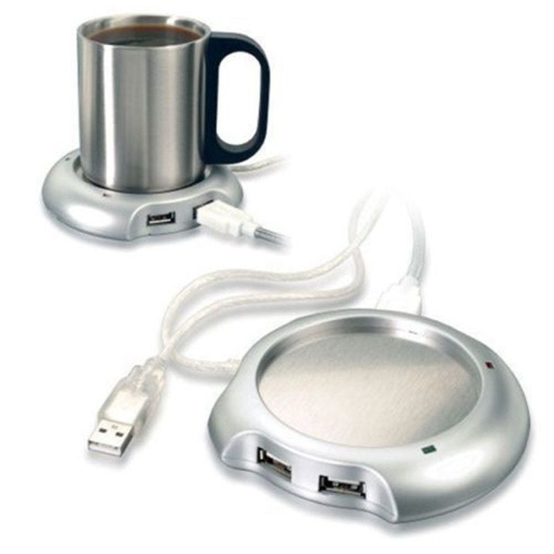 Mug Heater Pad with 4 USB Port Hub With On/Off Switch