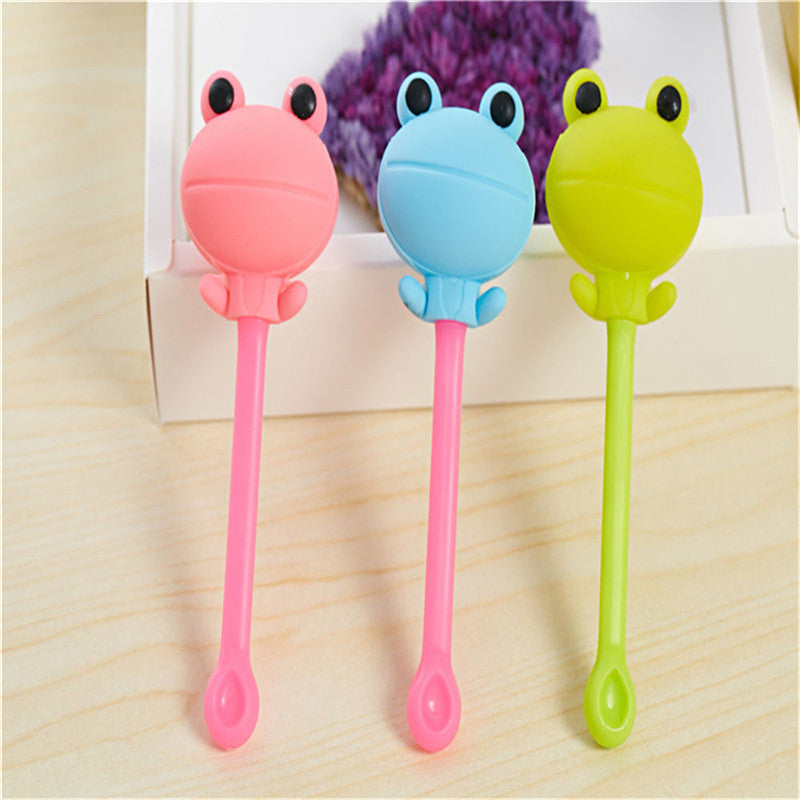 Cartoon Frog Tea Strainer Candy Color Silicone