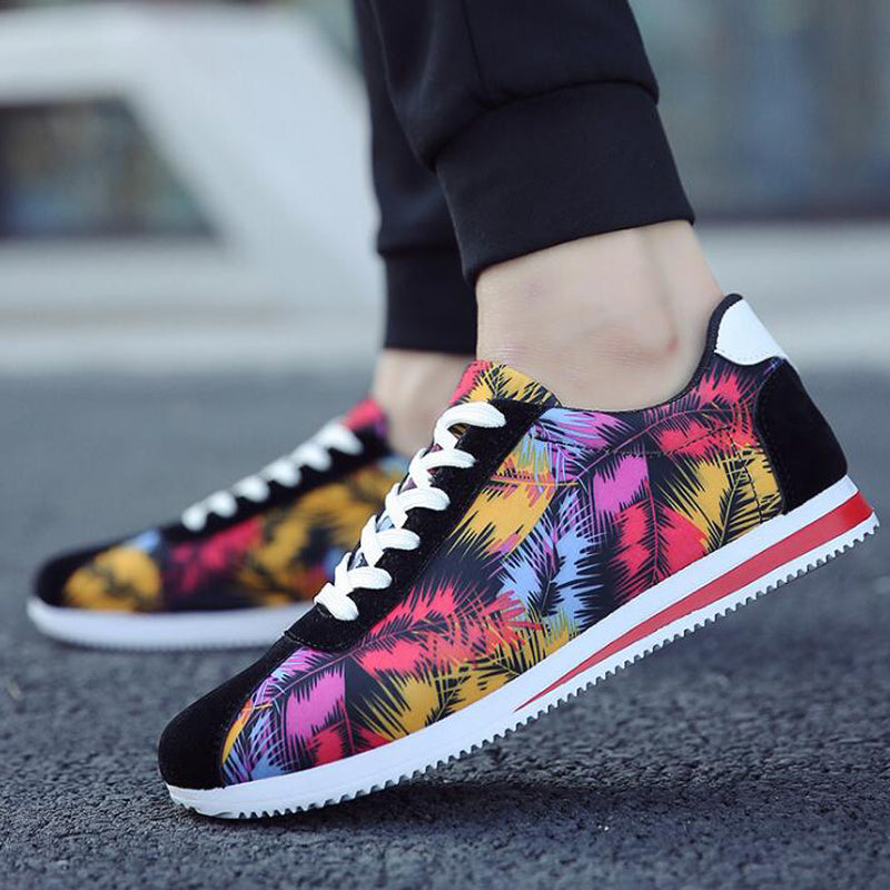 Casual Hip Hop Mixed Colors Breathable Canvas Sneakers