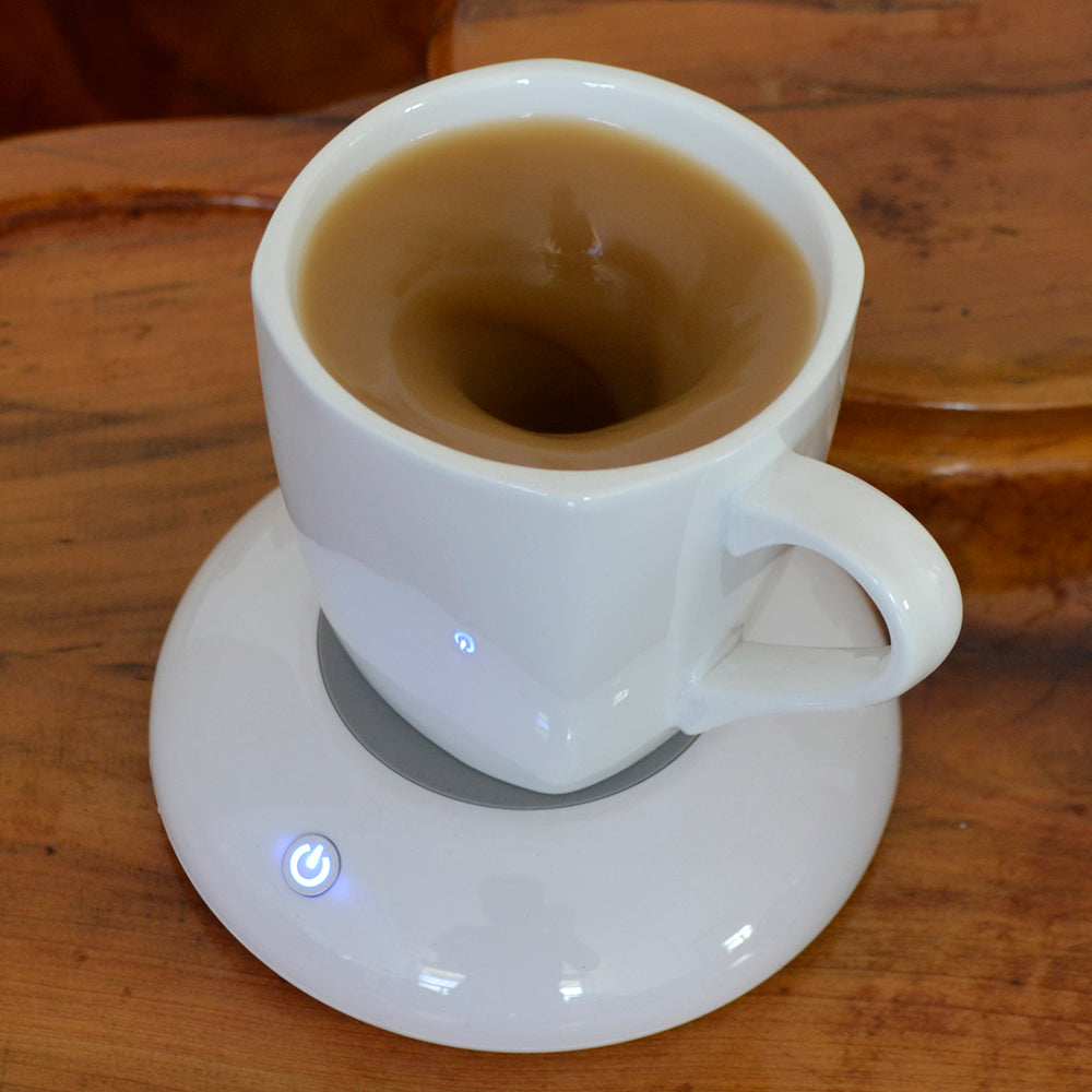 Ceramic USB Charge Automatic Mixing Coasters Smart Cup