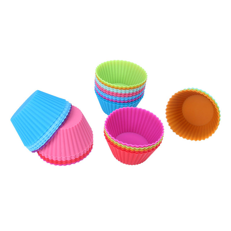 Multi-Color Silicone Cake Liner Case 12Pcs/Lot