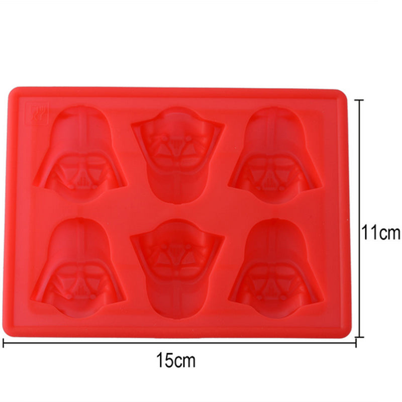 Fun Star Wars Darth Vader Cocktails Silicone Mold Ice Cube Tray Chocolate Fondant