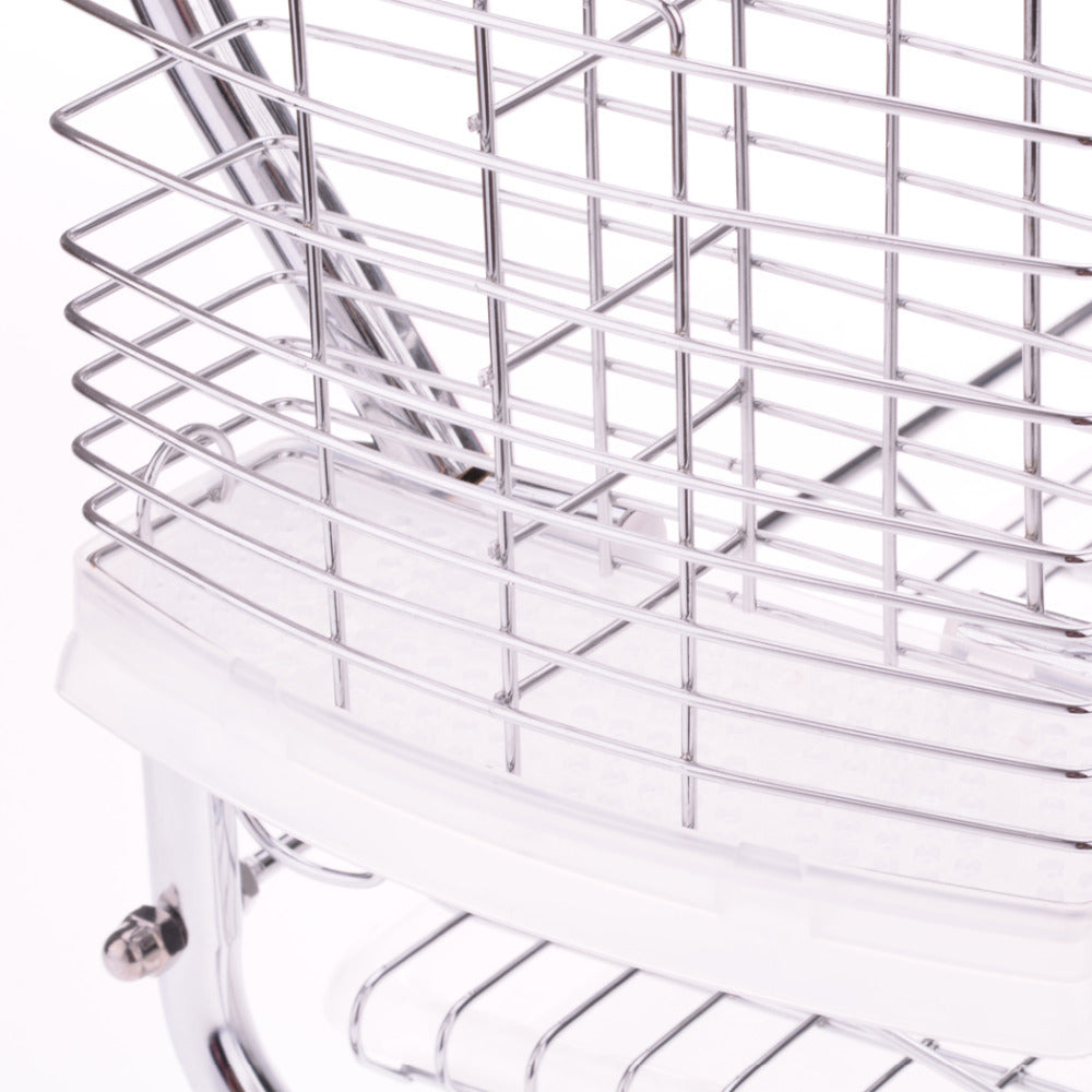 Creative Stylish 2 Tiers Stainless Steel Dish Rack Kitchen