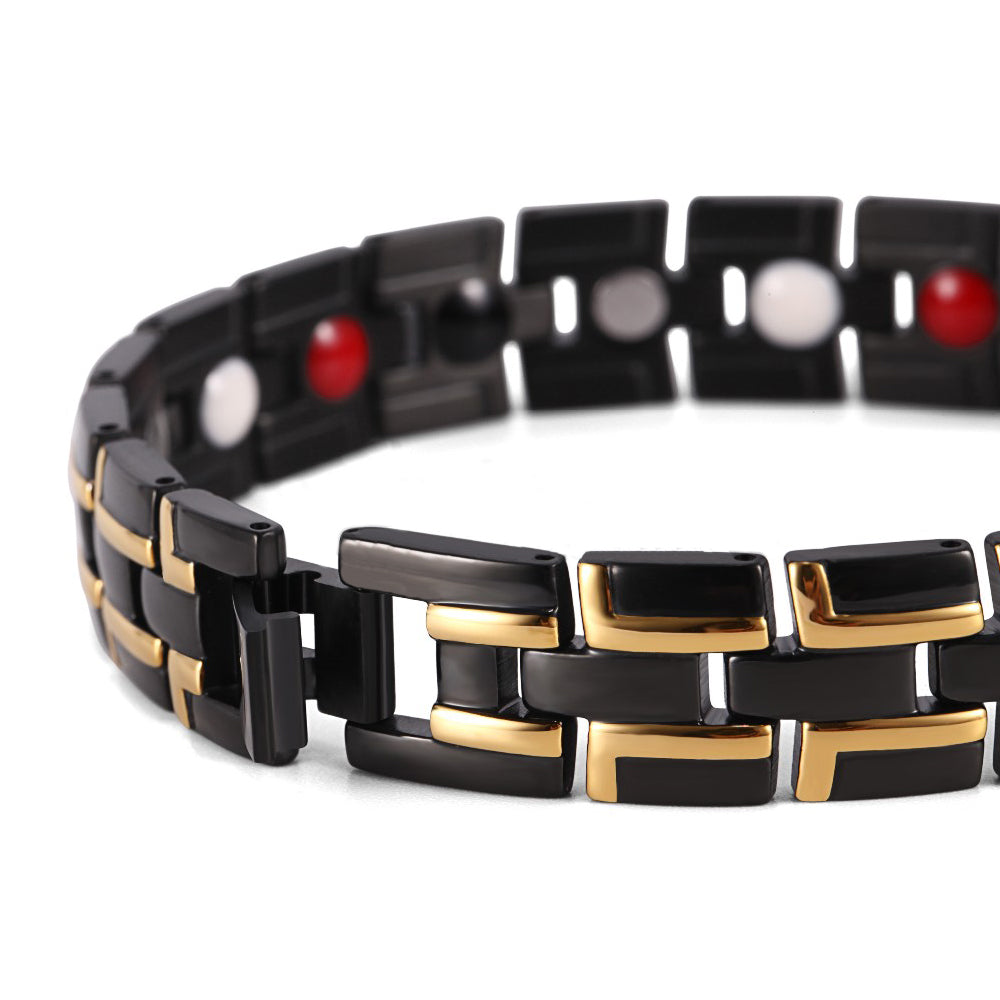 Adjustable Length Bio Elements Energy Magnetic Men Bracelet