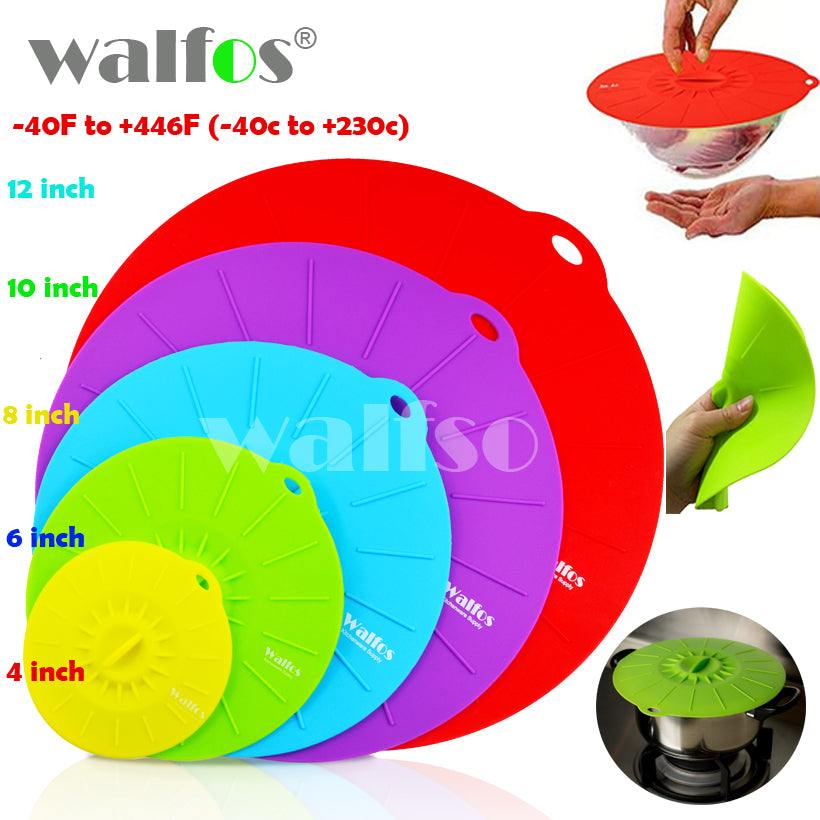 5 Silicone Microwave Bowl Cover Cooking Pot