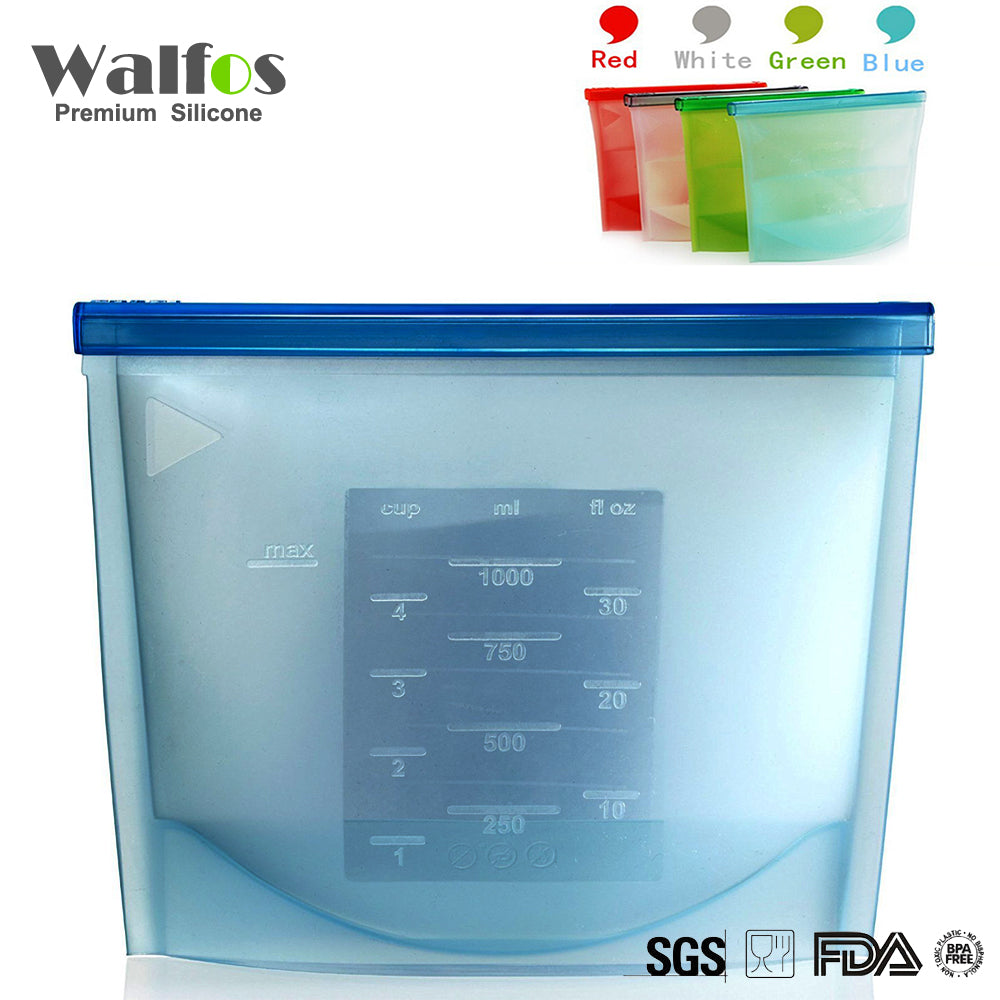 WALFOS Silicone Fresh Bags Home Food Sealing Storage
