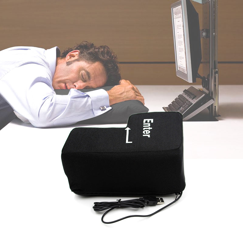 Amazing USB Ultra Big Creative Enter Button Antistress Pillow