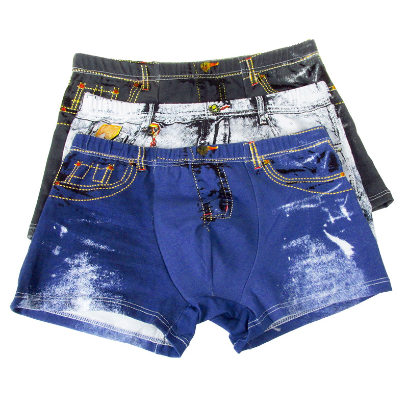 Comfortable Breathable Soft Cartoon Print Silk Man Boxers