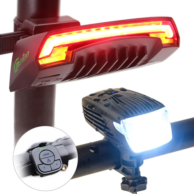 Smart USB Chargeable Remote Wireless LED Light Bike Rear Light Turn Signal