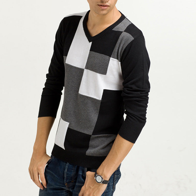 Mens Sweaters V-Neck Pullovers
