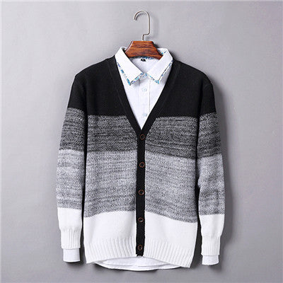 Top Quality V Neck Cardigan Sweater Stylish Men Sweaters