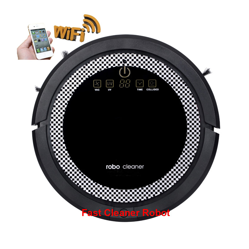 Smart Multifunctional WIFI Wet And Dry Mini Robot Vacuum Cleaner
