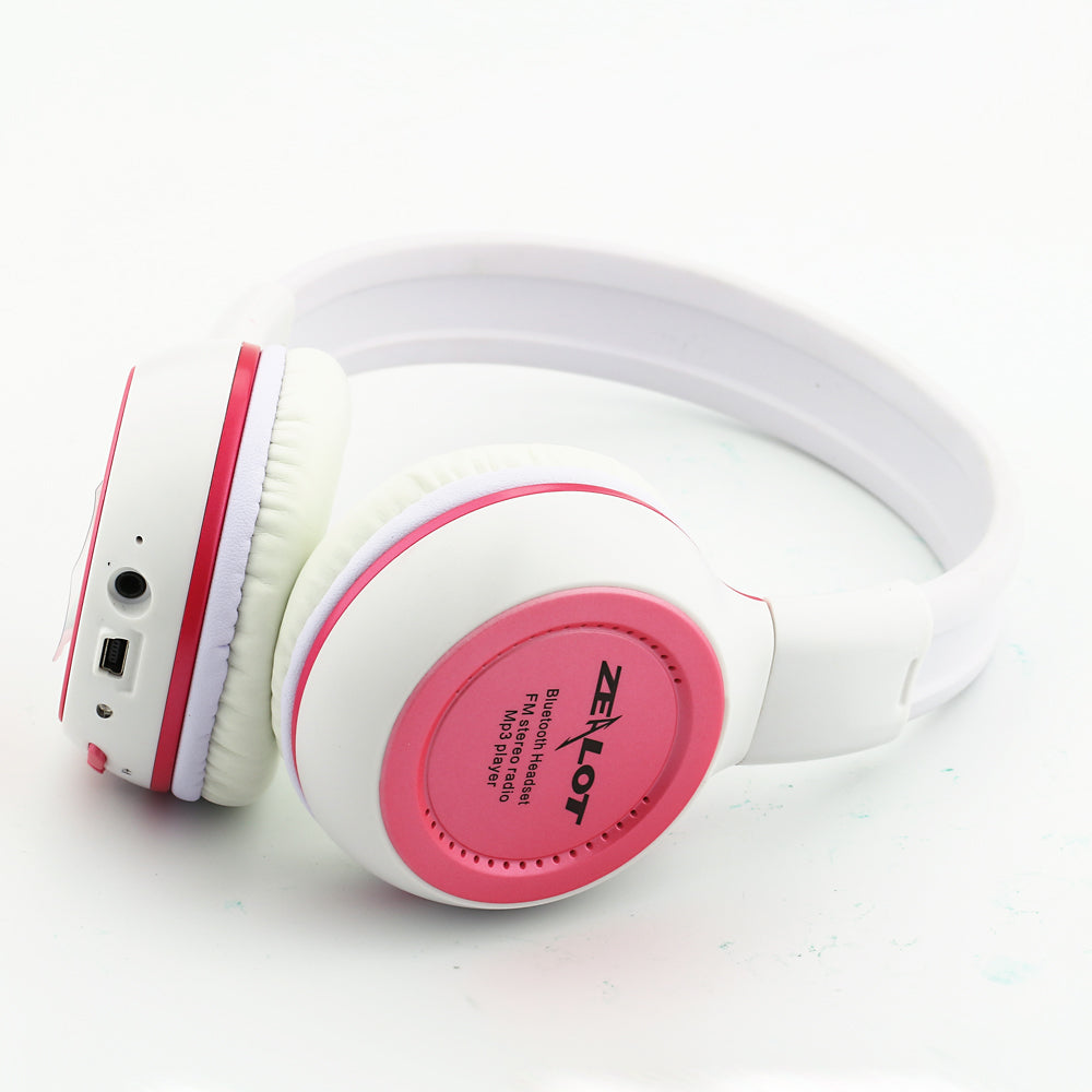 Bluetooth Wireless Foldable Stereo LCD MP3 Headset With Mic