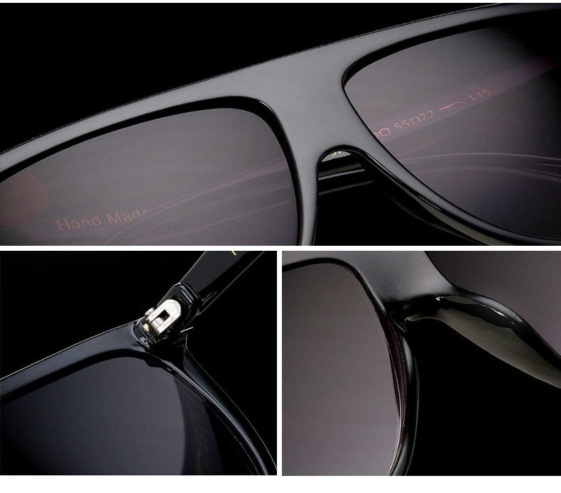 Classic Clear Oversized Square UV400 Sunglasses For Women