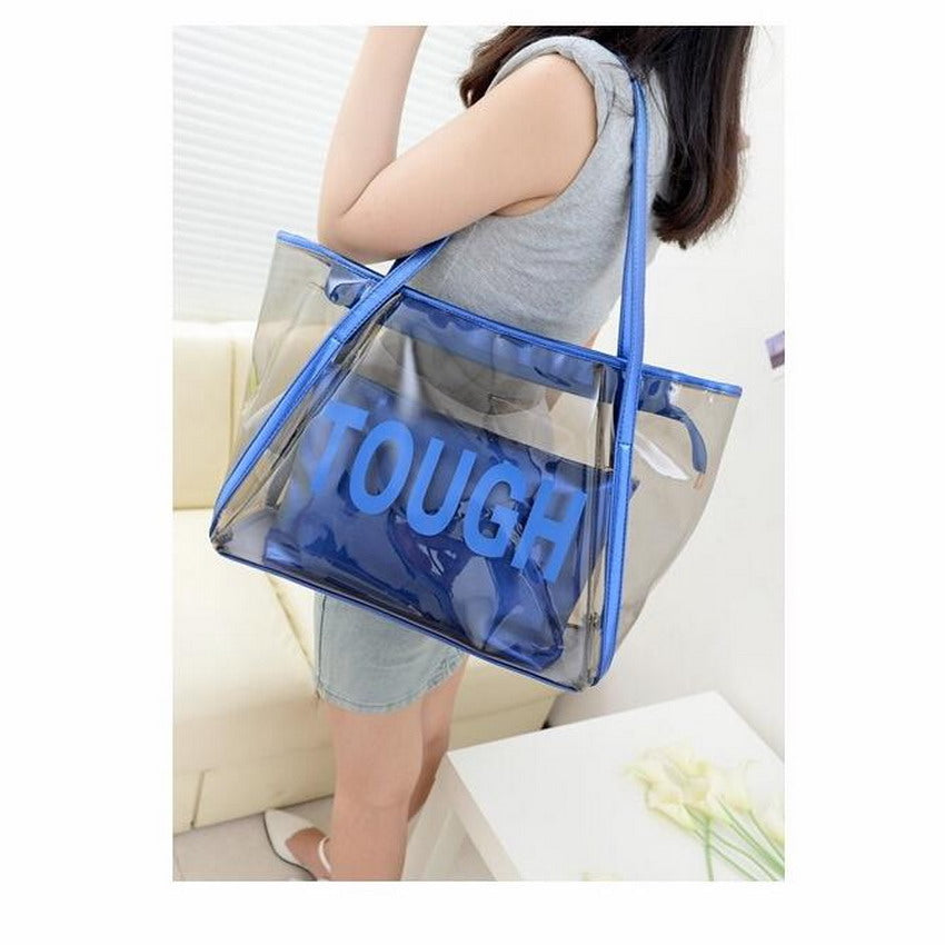 Transparent Purse Solid Small Women Composite Shoulder Bags