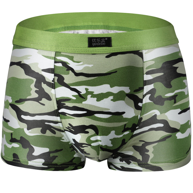 4 Pcs/Lot Elastic Waist Camouflage Modal Men's Boxer Shorts