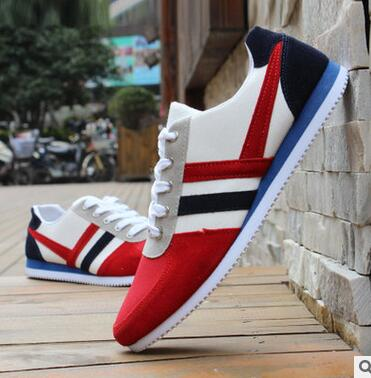 Breathable Anti-Odor Light Lace-Up Flat Canvas Men Sneakers