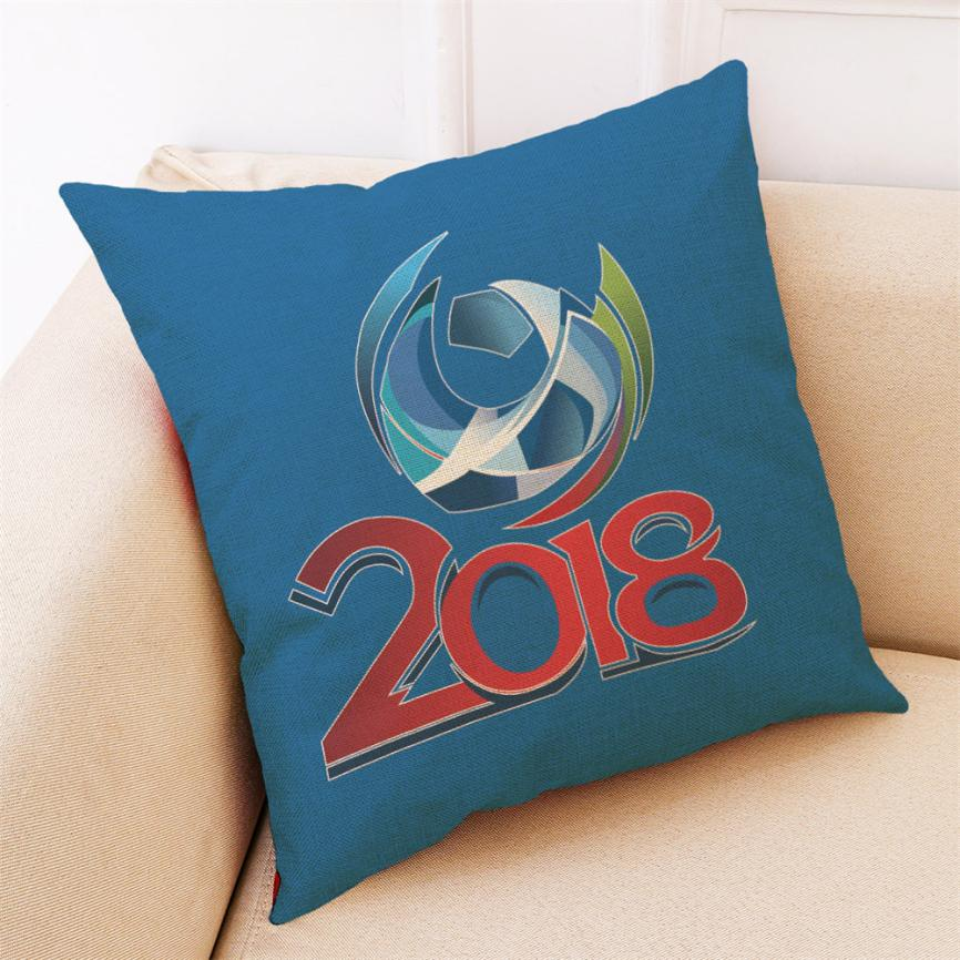 45 * 45cm The 2018 Russia FIFA World Cup Soccer Cushion Cover