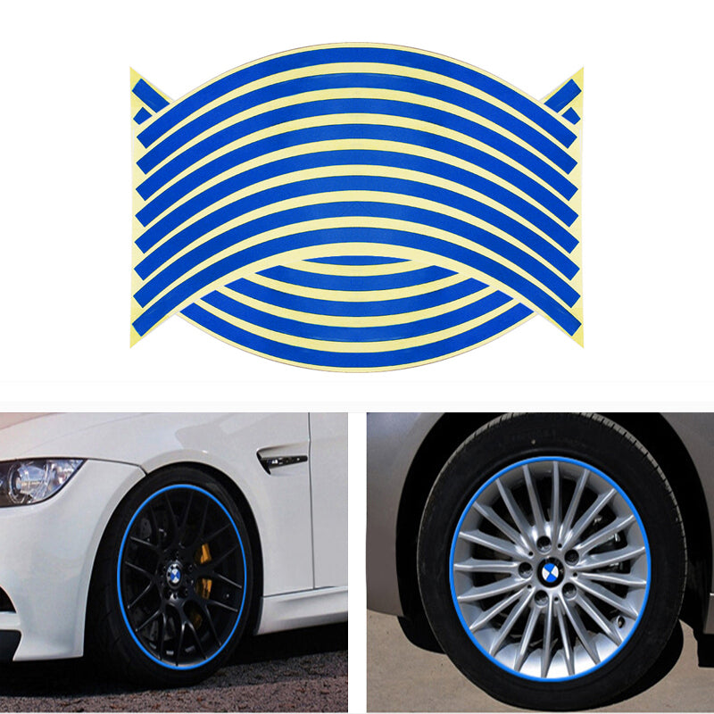 Stripe Safety Reflective Decal Stickers For Bike & Motorcycle & Car Styling Wheel Hub Rim