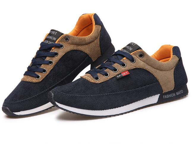Fashion Breathable Anti-Odor Canvas Men Sneakers
