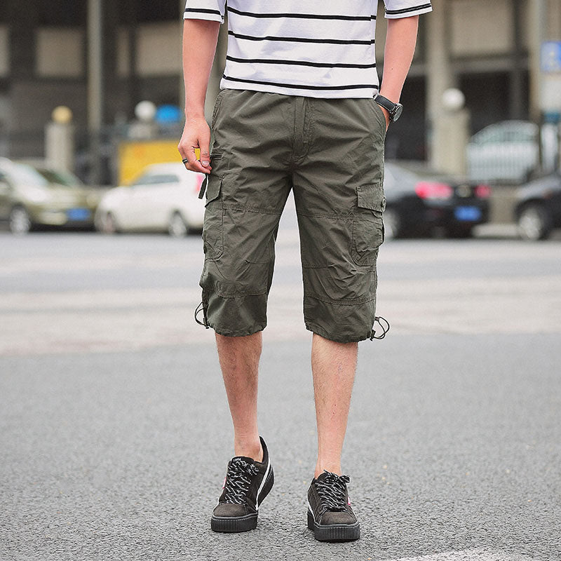 Camouflage Multi Cargo Calf-Length Loose Men Army Pant