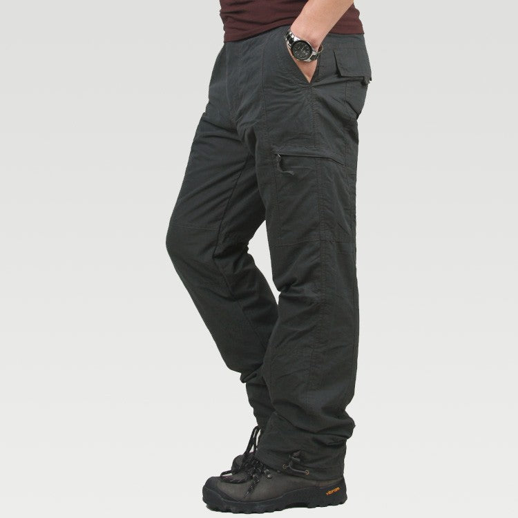 Camouflage Warm Double Layer Thick Flat Men Cargo Pant