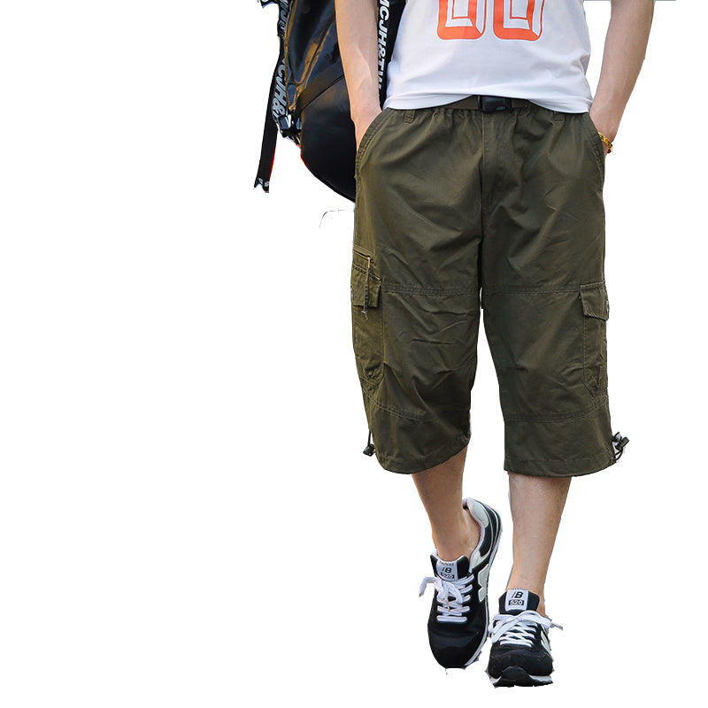 Breathable Camouflage Thin Loose Men's Cargo Calf-Length Pant