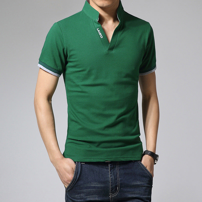 Summer Fashion V-Neck Slim Fit Short Sleeve T-Shirt