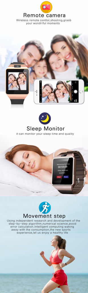 Bluetooth Cawono DZ09 Call SIM TF Camera SmartWatch For Android & IOS Phone