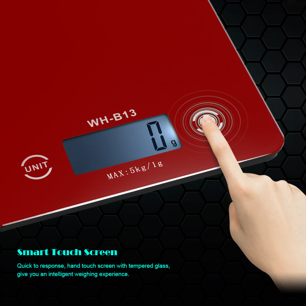 Electronic 5KG/1G Accurate LCD Backlight G/LB/OZ Digital Kitchen Food Scale