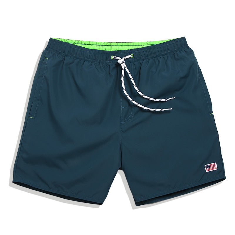 Quick Dry Solid Men Swim Shorts