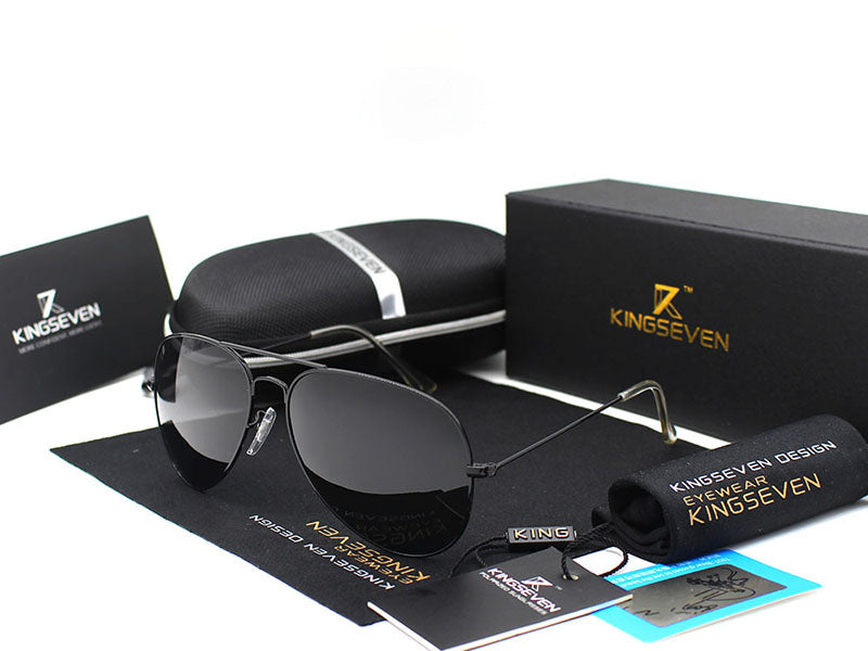 KINGSEVEN Classic Fashion Polarized Colorful Reflective Sunglasses