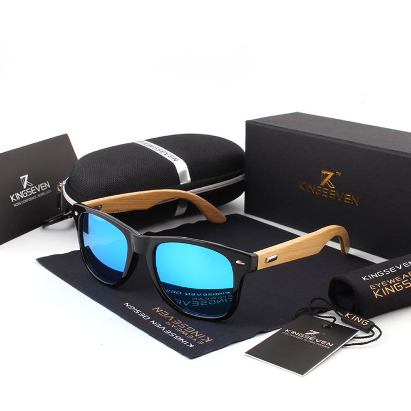 New Bamboo Polarized Wooden Sunglasses