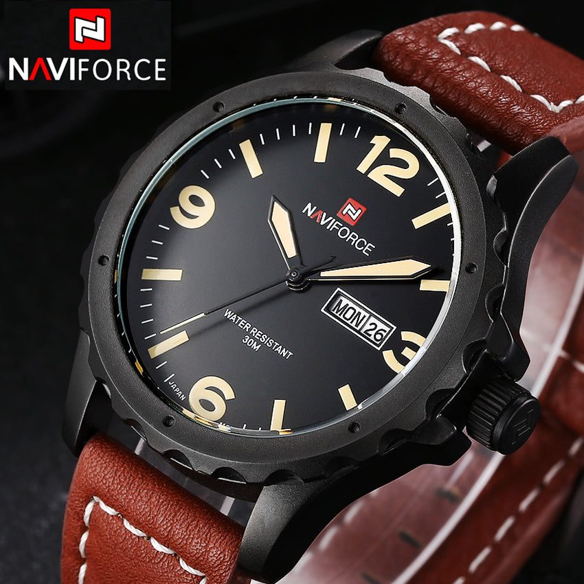 Luxury Men's Quartz Casual Leather Watch