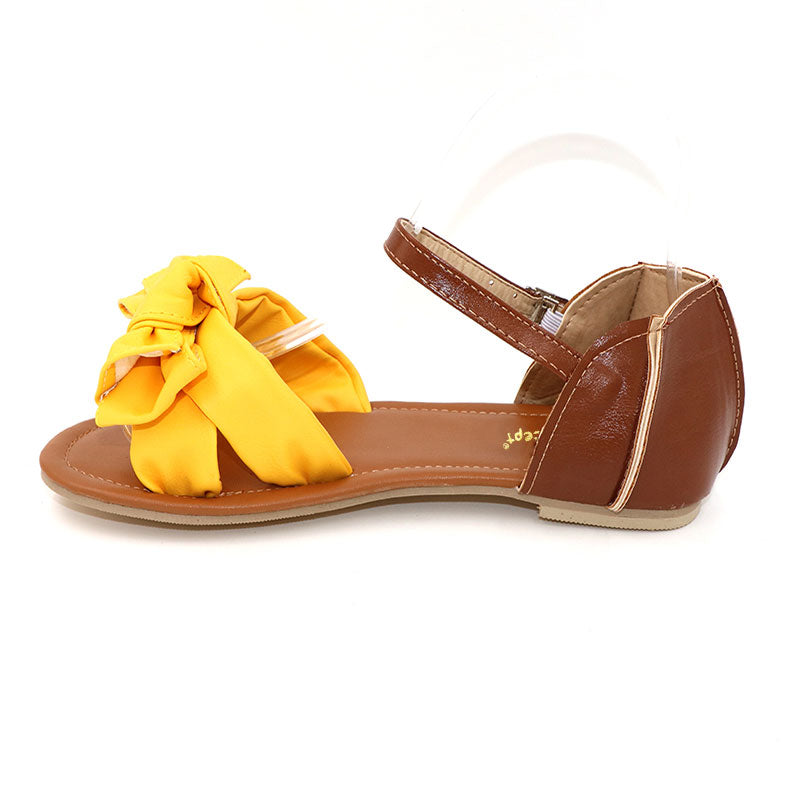 Sweet Flower Patchwork Bowtie Summer Flat Women Sandals